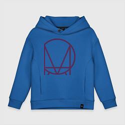 Толстовка оверсайз детская Skrillex Symbol цвета синий — фото 1