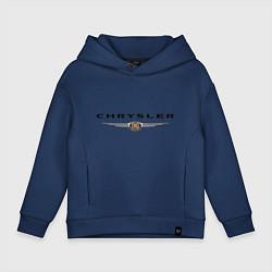 Толстовка оверсайз детская Chrysler logo цвета тёмно-синий — фото 1