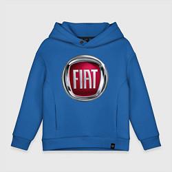 Толстовка оверсайз детская FIAT logo цвета синий — фото 1