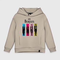 Толстовка оверсайз детская Walking Beatles цвета миндальный — фото 1