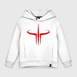 Толстовка оверсайз детская Quake logo цвета белый — фото 1
