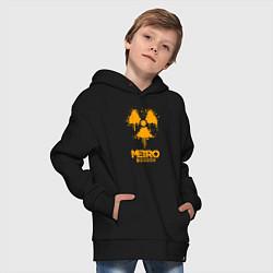 Толстовка оверсайз детская METRO EXODUS цвета черный — фото 2