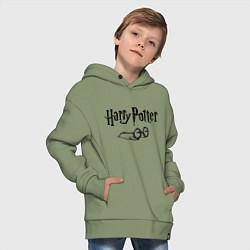 Толстовка оверсайз детская Гарри Поттер цвета авокадо — фото 2