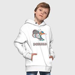 Толстовка оверсайз детская Donald Skateboarding цвета белый — фото 2