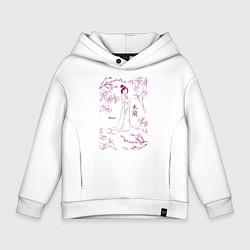 Толстовка оверсайз детская Mulan цвета белый — фото 1