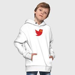 Толстовка оверсайз детская Team Trump цвета белый — фото 2