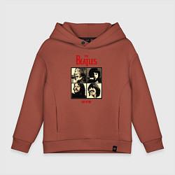 Толстовка оверсайз детская The Beatles LET IT BE цвета кирпичный — фото 1