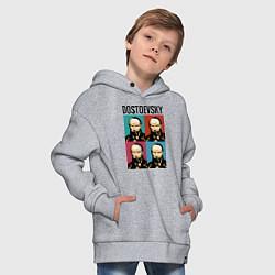 Толстовка оверсайз детская Dostoevsky цвета меланж — фото 2