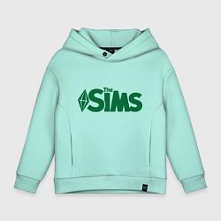 Толстовка оверсайз детская Sims цвета мятный — фото 1