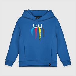Толстовка оверсайз детская Abbey Road Colors цвета синий — фото 1