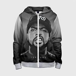 Толстовка на молнии детская Ice Cube: Gangsta цвета 3D-меланж — фото 1