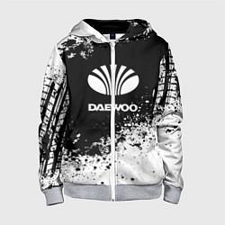 Толстовка на молнии детская Daewoo: Black Spray цвета 3D-меланж — фото 1