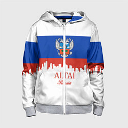 Толстовка на молнии детская Altai: Russia цвета 3D-меланж — фото 1