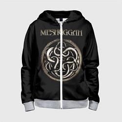 Толстовка на молнии детская Meshuggah цвета 3D-меланж — фото 1