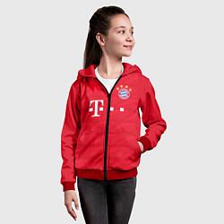 Толстовка на молнии детская FC Bayern: Home 19-20 цвета 3D-красный — фото 2