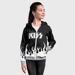Толстовка на молнии детская Kiss цвета 3D-меланж — фото 2