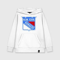 Толстовка детская хлопковая New York Rangers цвета белый — фото 1