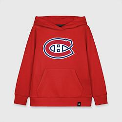 Толстовка детская хлопковая Montreal Canadiens цвета красный — фото 1
