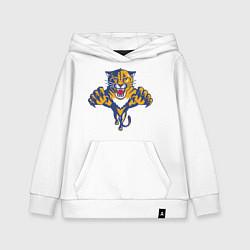 Толстовка детская хлопковая Florida Panthers цвета белый — фото 1