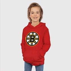 Толстовка детская хлопковая Boston Bruins цвета красный — фото 2