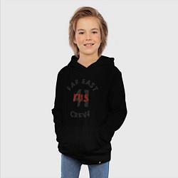 Толстовка детская хлопковая Far East 41 Crew цвета черный — фото 2