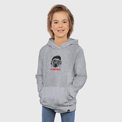 Толстовка детская хлопковая Obey the pug цвета меланж — фото 2