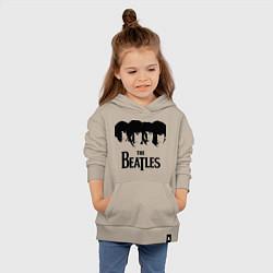 Толстовка детская хлопковая The Beatles: Faces цвета миндальный — фото 2
