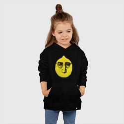 Толстовка детская хлопковая John Lemon цвета черный — фото 2