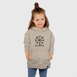 Толстовка детская хлопковая Bjork Rune цвета миндальный — фото 2
