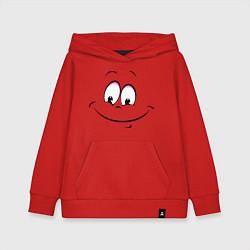 Толстовка детская хлопковая Позитив со всех сторон цвета красный — фото 1