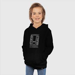 Толстовка детская хлопковая Attention Shinedown цвета черный — фото 2