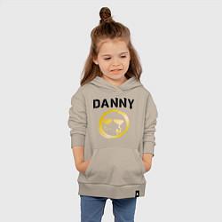 Толстовка детская хлопковая HU: Danny цвета миндальный — фото 2
