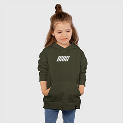 Толстовка детская хлопковая IKON цвета хаки — фото 2