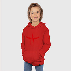 Толстовка детская хлопковая Quake logo цвета красный — фото 2