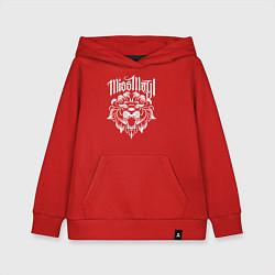 Толстовка детская хлопковая Miss May I: Angry Lion цвета красный — фото 1
