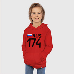 Толстовка детская хлопковая RUS 174 цвета красный — фото 2