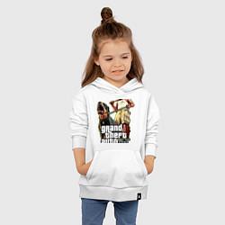 Толстовка детская хлопковая GTA V: Man & Dog Dark цвета белый — фото 2