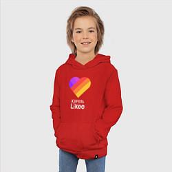 Толстовка детская хлопковая Король Likee цвета красный — фото 2