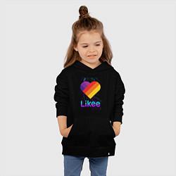 Толстовка детская хлопковая Likee LIKE Video цвета черный — фото 2
