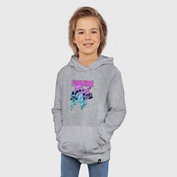 Толстовка детская хлопковая FORTNITE x MARSHMELLO цвета меланж — фото 2