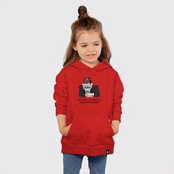 Толстовка детская хлопковая Потому что жизнь несправедлива цвета красный — фото 2