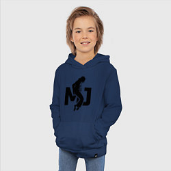 Толстовка детская хлопковая MJ Music цвета тёмно-синий — фото 2