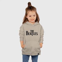 Толстовка детская хлопковая The Beatles цвета миндальный — фото 2