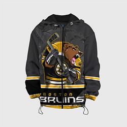 Детская 3D-куртка с капюшоном с принтом Boston Bruins, цвет: 3D-черный, артикул: 10106979205458 — фото 1