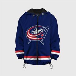 Куртка с капюшоном детская Columbus Blue Jackets цвета 3D-черный — фото 1
