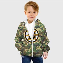 Детская 3D-куртка с капюшоном с принтом Bruins Camouflage, цвет: 3D-белый, артикул: 10107922705458 — фото 2