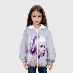 Куртка с капюшоном детская Die Antwoord: Wild Eyes цвета 3D-белый — фото 2