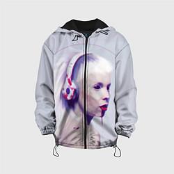 Детская 3D-куртка с капюшоном с принтом Die Antwoord: Wild Eyes, цвет: 3D-черный, артикул: 10112025205458 — фото 1