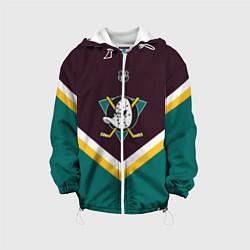 Детская 3D-куртка с капюшоном с принтом NHL: Anaheim Ducks, цвет: 3D-белый, артикул: 10112150905458 — фото 1