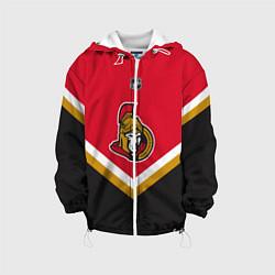 Детская 3D-куртка с капюшоном с принтом NHL: Ottawa Senators, цвет: 3D-белый, артикул: 10112239105458 — фото 1